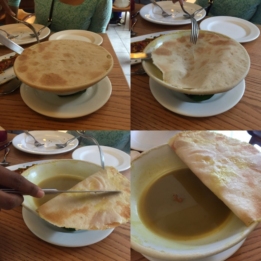 this is how it was served - Kashmiri shorba