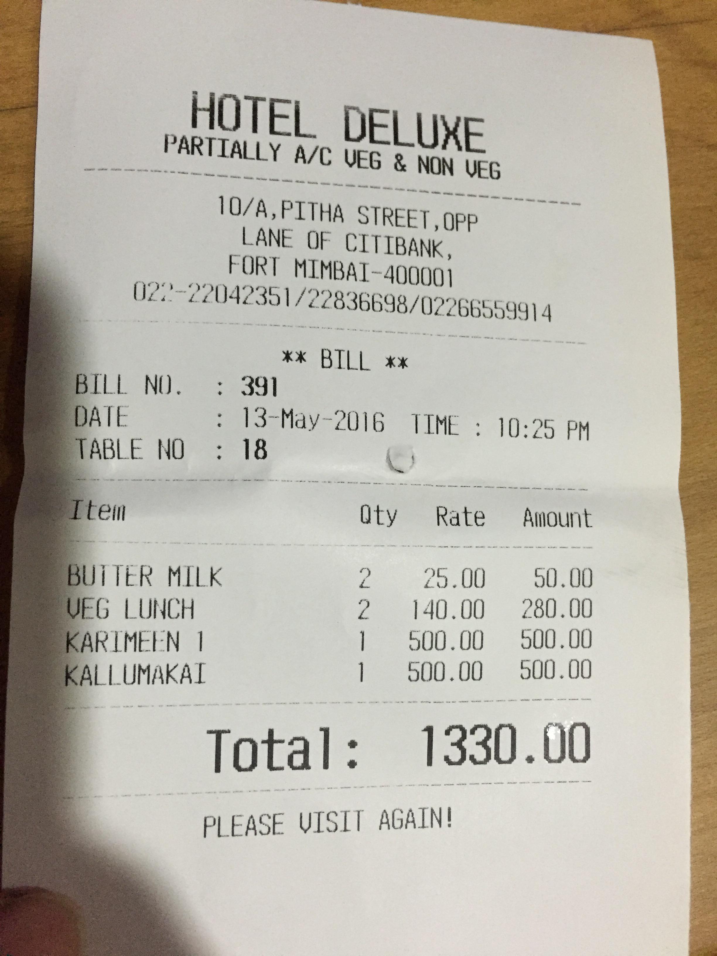 hotel bills