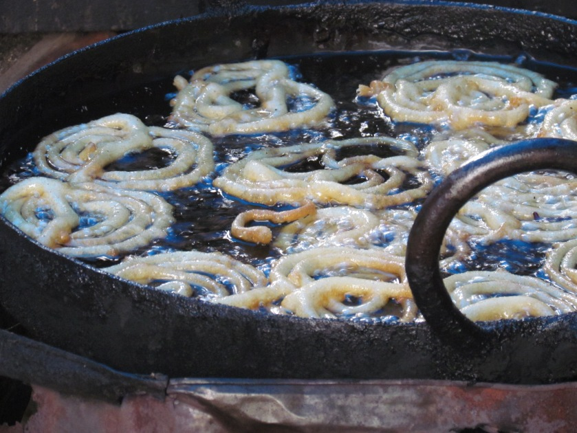 freshly made jalebis