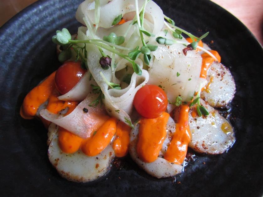 atlantic scallop tiradito with aji rocoto