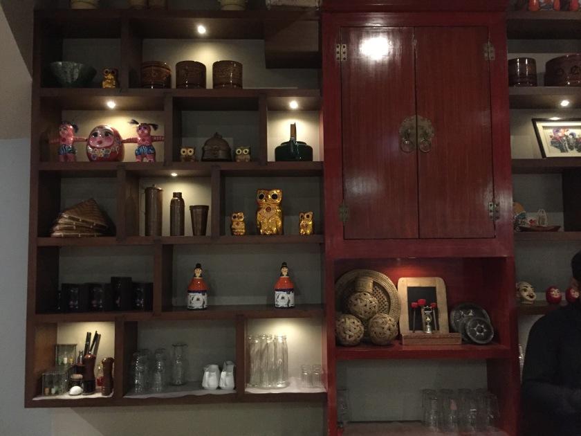 Decor inside the eatery