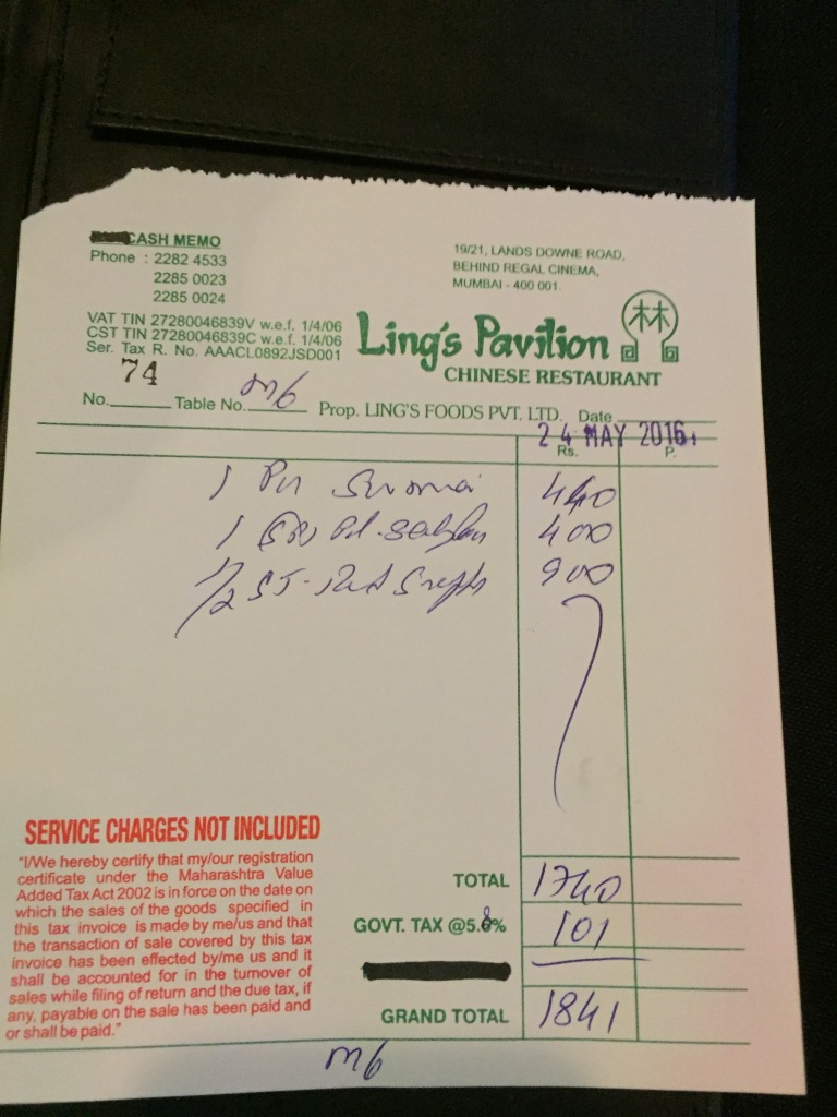 receipt 3 - proof of payment