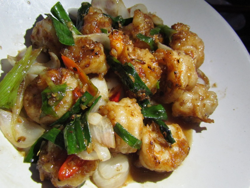 Prawn ginger garlic