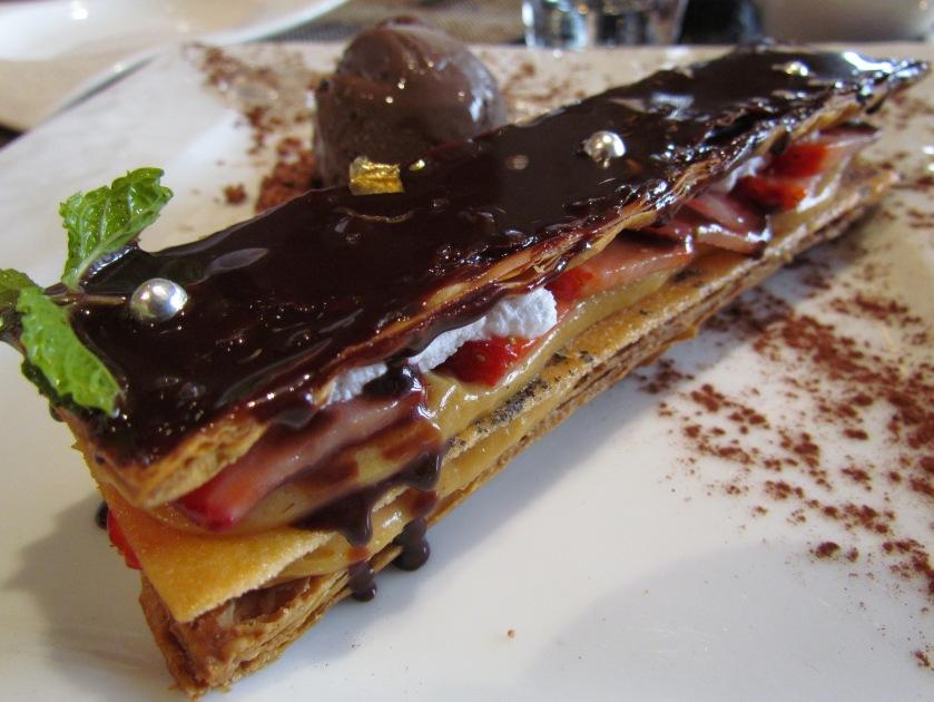 Kuro goma Mille feuille with fresh caramel Hokkaido