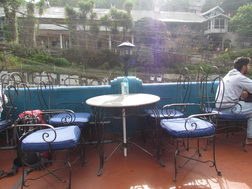 Open air seating area