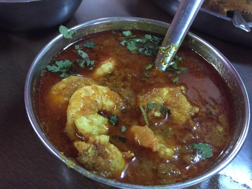 Kolambi (prawn) masala