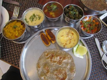 Bajrey Ka rotla with curries