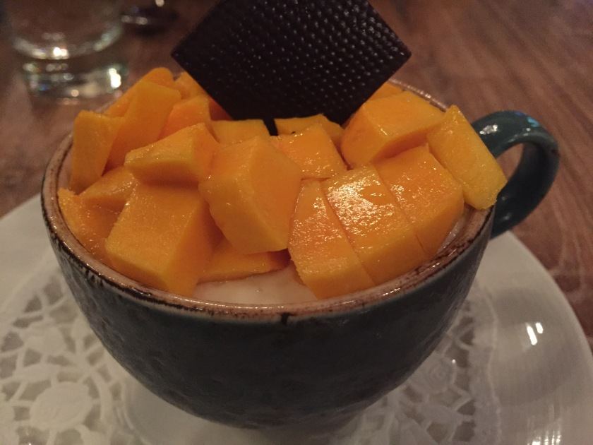 Fresh mango and Malibu tiramisu