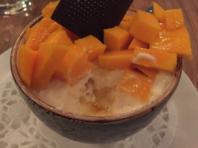 Fresh mango and Malibu tiramisu