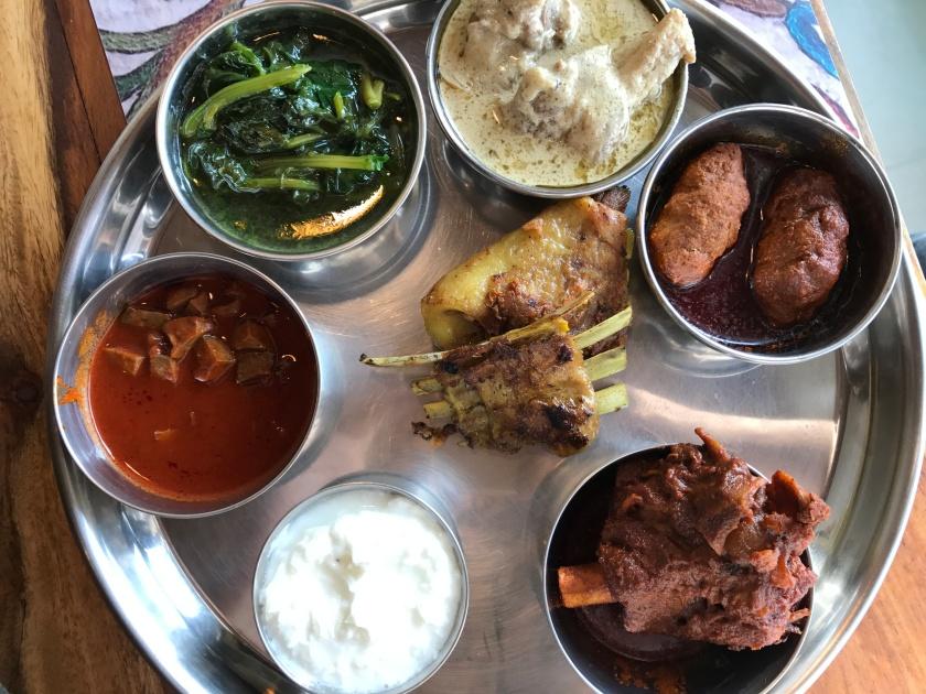 nonvegetarian thali