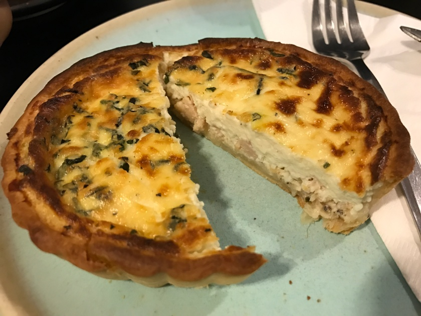 inside Smoked Chicken quiche